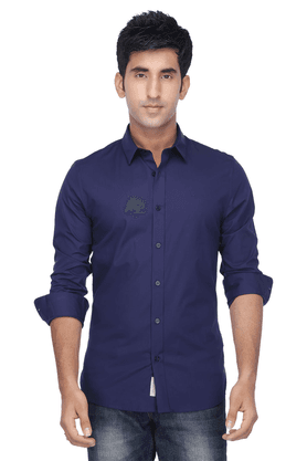 Calvin Klein Jeans Formal Shirts (Men's) - Mens Full Sleeves Slim Fit Casual Solid Shirt