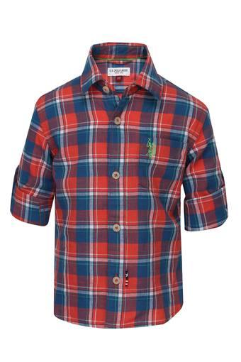 Boys Collared Check Shirt
