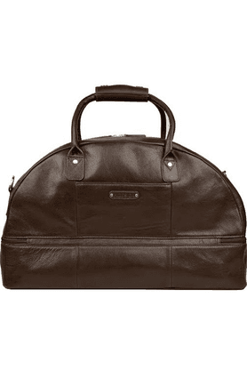 Unisex Leather Ettore Zipper Closure Duffle Bag