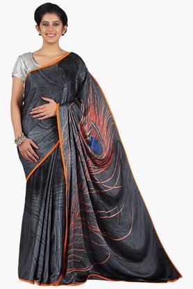 JASHN Women Satin Printed Saree  ...