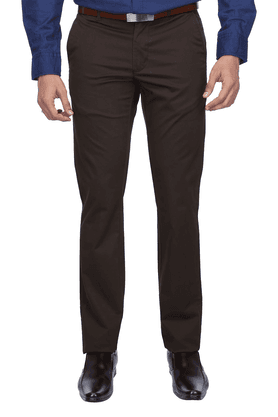 INDIAN TERRAIN Mens Flat Front Slim Fit Solid Chinos - 9983121