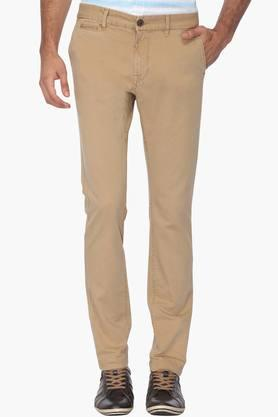 Mens Slim Fit 5 Pocket Solid Chinos (Brooklyn Fit) - 202069950