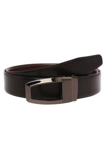 Mens Leather Buckle Closure Formal Web Belt