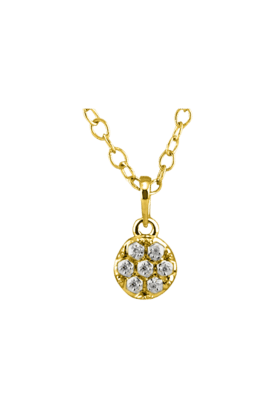 SPARKLESHis & Her Collection 18 Kt Pendant In Gold & Real Diamond HHPXP9101