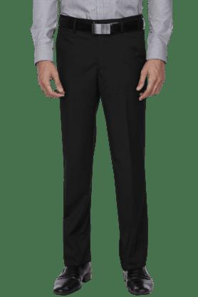 VAN HEUSENMens Slim Fit Solid Formal Trouser