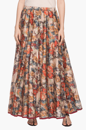 KASHISH Womens Floral Printed Skirt