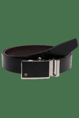 TITANMens Black Leather Formal Belt
