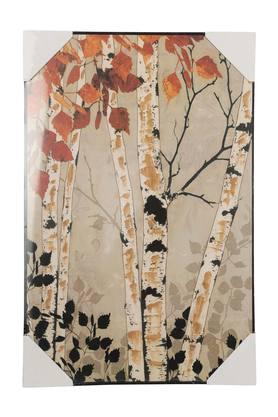 Rectangular Foliage Printed Canvas Art