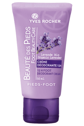 YVES ROCHERBeaute Pieds Organic Lavender 12H Foot Deodorant Cream 50ML