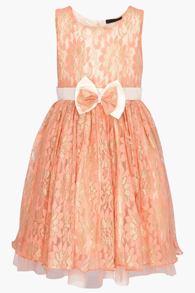 Girls Bow-accented Dress