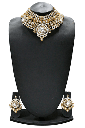 ZAVERI PEARLS INDIAN BRIDAL DULHAN NECKLACE SET BY - ZPFK1292