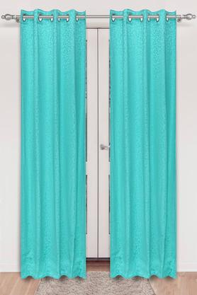 IVY - Turquoise Door Curtains - Main