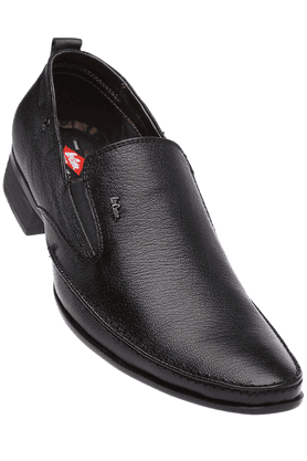 LEE COOPERMens Black Leather Formal Slipon Shoes