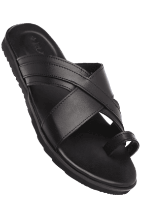RUOSH Mens Leather Slipon Sandal