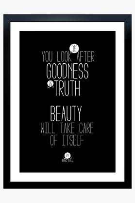 CRUDE AREA Multi Colour Goodness, Truth And Beauty Printed Paper Poster  ...