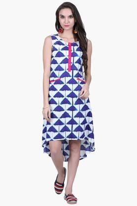 JUNIPER Womens Printed Asymmetrical Dress