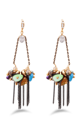 JAZZ Fancy And Funky Design Multicolour Beads Hanging Earrings