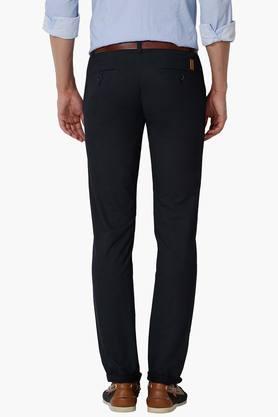 Mens Super Slim Fit 4 Pocket Solid Trousers