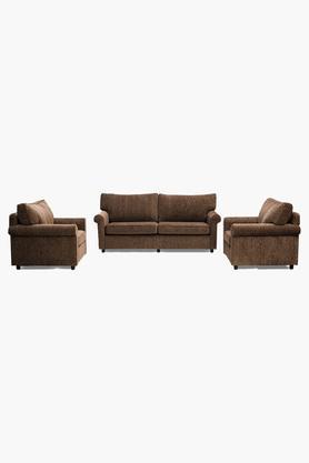 Wheat Brown Fabric Sofa (3-1-1 Sofa Set )