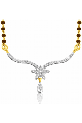 SPARKLES Gold Mangalsutra With Diamond Pendant Set N9263