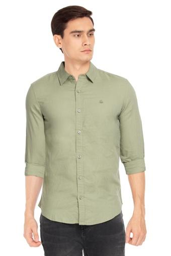 UNITED COLORS OF BENETTON -  Olive Casual Shirts - Main