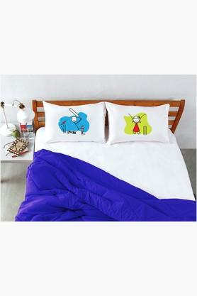 STOA PARIS White Cricket Pillow Talk Bed Linen (Bedsheet Set (King)