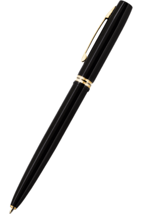 WILLIAM PENN Fisher Space Pen Cap-O-Matic M4Sb Shiny Black Lacquer Ball Pen