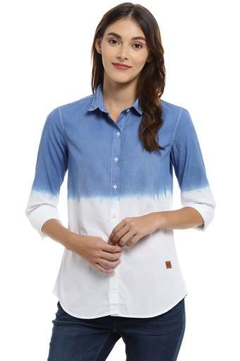 CAMPUS SUTRA -  Royal BlueShirts - Main