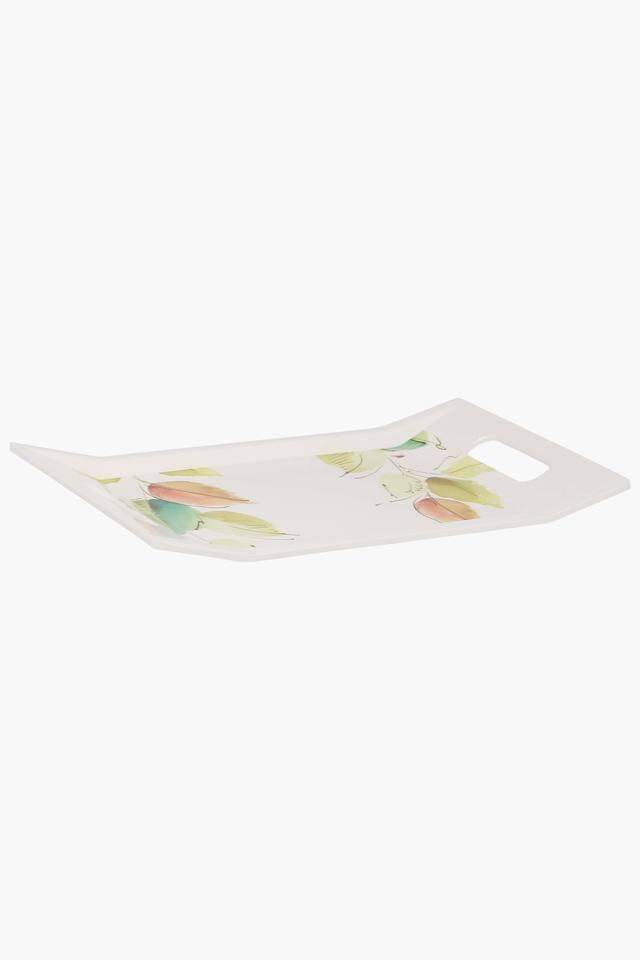 Rectangular Bay Leaves Printed Tray
