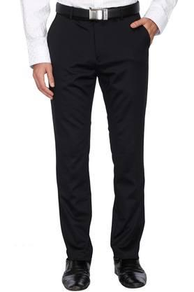 STOP Mens 4 Pocket Formal Printed Trousers
