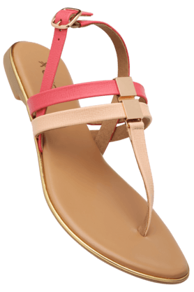 LIFE Womens Daily Wear Ankle Buckle Closure Flat Sandal - 200619711