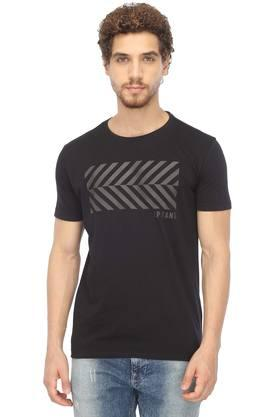 f8a9b4fb X LOUIS PHILIPPE JEANS Mens Round Neck Printed T-Shirt