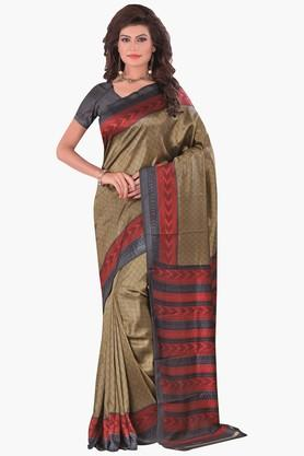 DEMARCA Womens Printed Pochampali Silk Saree