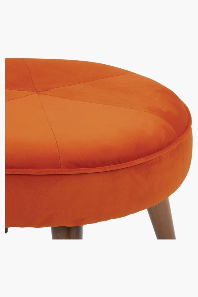 Dark Orange Water Repellent Fabric Pouf