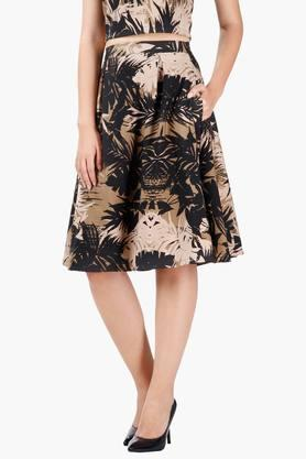 MISS CHASE Womens Printed Short Skirt