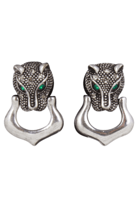 JAZZ Silver Animal Design Drop Earring