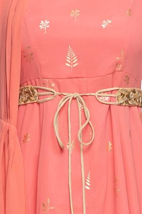 Womens V Neck Embroidered Drape Tunic
