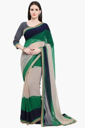 Women Chiffon With Lace Printed Saree