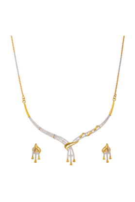 TUAN Stylish Zirconia Diamond Necklace Set For Women (INK-765) (Use Code FB20 To Get 20% Off On Purchase Of Rs.1800)