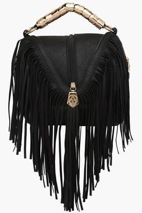 RS BY ROCKY STARWomens Leather Zipper Closure Satchel Handbag
