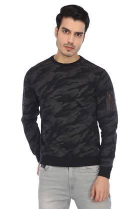 Mens Round Neck Camouflage Sweatshirt