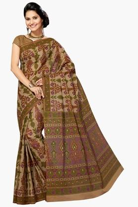 ASHIKA Womens Designer Cotton Printed Saree - 202338361