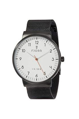 Mens White Dial Stainless Steel Analogue Watch - FJ-3036-22
