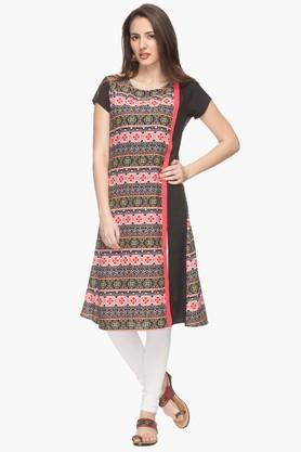IMARA Womens Round Neck Printed Kurta (Buy Worth Rs.2500 & Get Rs.500. Off) - 201430423