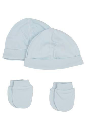 Unisex Solid Caps and Mitten Pack of 4