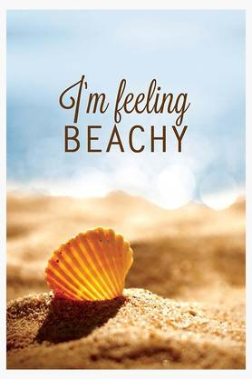 CRUDE AREAMulti Colour Im Feeling Beachy Printed Paper Poster