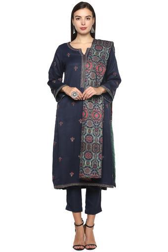 BIBA -  NavySalwar & Churidar Suits - Main