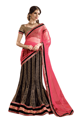 DEMARCA Women Banarasi Lehenga Choli (Buy Any Demarca Product & Get A Pair Of Matching Earrings Free) - 200875548