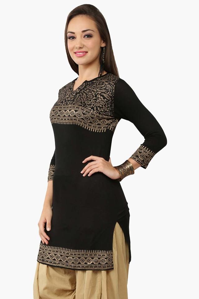 Womens Slim Fit Printed Kurta