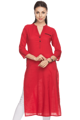HAUTE CURRY Women Cotton Casual Kurta